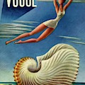 Vogue Magazine Cover Featuring A Woman by Miguel Covarrubias