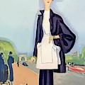 Vogue Magazine Cover Featuring A Woman Walking by Eduardo Garcia Benito