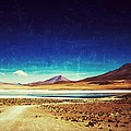Volcano Lagoon Bolivia Vintage by For Ninety One Days