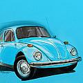 Volkswagen Beetle VW Blue by Etienne Carignan