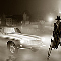 Volvo P1800 And Hot Detective by Linton Hart