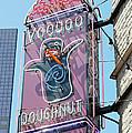 Voodoo Doughnut In Neon by E Faithe Lester