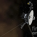 Voyager 1 Spacecraft Entering by Stocktrek Images