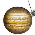 Voyager Spacecraft And Jupiter, Artwork by David A. Hardy