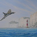 Vulcan Xh558 Passing Beachy Head by Elaine Jones