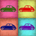 Vw Beetle Pop Art 1 by Naxart Studio