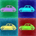 Vw Beetle Pop Art 3 by Naxart Studio