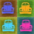 Vw Beetle Pop Art 6 by Naxart Studio
