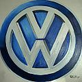 Vw Logo Blue by Richard Le Page