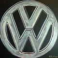 Vw Logo Chrome by Richard Le Page