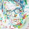W. B. Yeats  - Watercolor Portrait by Fabrizio Cassetta