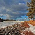 Wachusett Reservoir Frozen by Michael Saunders