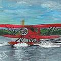 Waco Cabin Biplane Circa 1930 by Cliff Wilson