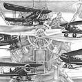Wacos - Vintage Biplane Aviation Art by Kelli Swan