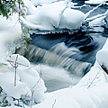 Wagner Creek In Winter by Optical Playground By MP Ray