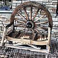 Wagon Wheel Chair by Melvin Busch