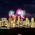 Waikiki Fireworks Celebration 2 by Jason Chu