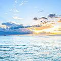Waikiki Sunset After An Afternoon Thunderstorm by Jason Chu