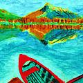Waiting Boat Of Alberta Canada by Stanley Morganstein