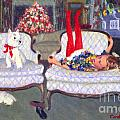 Waiting For Santa by Candace Lovely