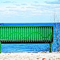 Waiting For Summer - The Green Bench by Mary Machare