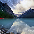 Waiting For Sunrise At Lake Louise by Teresa Zieba