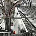 Waiting - Hollywood Subway Station. by Jamie Pham