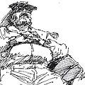 Waiting Room Nap Sketch by Ylli Haruni