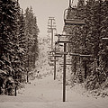 Waiting Ski Lifts by Cari Gesch