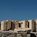 Waiting Tablets At Acropolis by Lorraine Devon Wilke