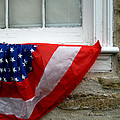 Waldschmidt Homestead And Bunting by Kathy Barney