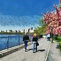 Walking Around Reservoir In Central Park by George Atsametakis