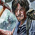 Walking Dead Sketch Cover Daryl by Ken Meyer
