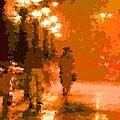 Walking In The Rain 02 by Samuel Majcen