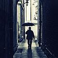 Walking In The Rain by Jaroslaw Blaminsky