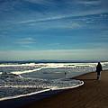 Walking On Seaside Beach by Joyce Dickens