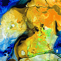 Walking On Sunshine - Abstract Painting By Sharon Cummings by Sharon Cummings