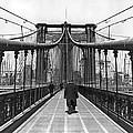 Walking On The Brooklyn Bridge by Underwood & Underwood