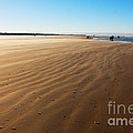 Walking On Windy Beach. by Jan Brons