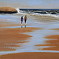 Walking The Beach by Frank Wilson