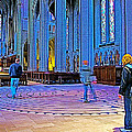 Walking The Indoor Labyrinth In Grace Cathedral In San Francisco-california by Ruth Hager