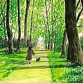 Walking The Scottie by Margaryta Yermolayeva