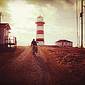 Walking To The Lighthouse by Zinvolle Art