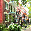 Walking Verdun In Summer Winding Staircases And Pathways Urban Montreal City Scenes Carole Spandau by Carole Spandau