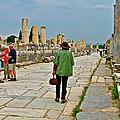 Walkway To Harbor In Ephesus-turkey by Ruth Hager