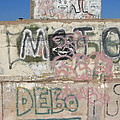 Wall Art Graffiti Concrete Walls Casa Grande Arizona 2004 by David Lee Guss