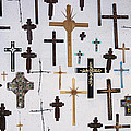 Wall Of Crosses by John Greco