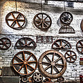 Wall Of Wheels by Christine Smart