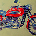 Wall Painted Motocycle by Ahmed Rashed