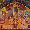 Wall Painting 3 At Wat Suthat In Bangkok-thailand by Ruth Hager